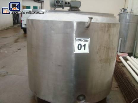 Tina de maduración a 1.700 litros de acero inoxidable