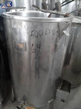 Tanque de almacenamiento de acero inoxidable con agitador para 500 L