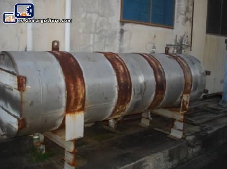 Depósito de vapor de alta presión de aproximadamente 400 litros de acero inoxidable